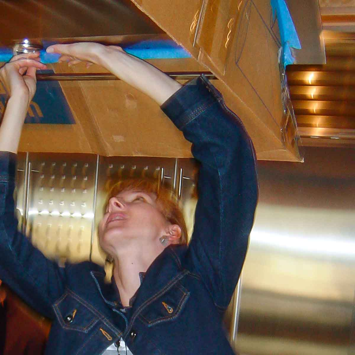 Vent Hood Retrofit - Installing the Mock-up