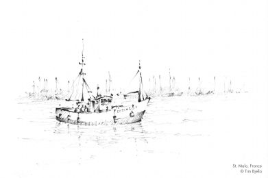 Tim Bjella Sketches - Fishing Boat