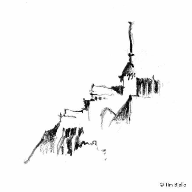 Tim Bjella Sketches - Le Mont Saint Michel