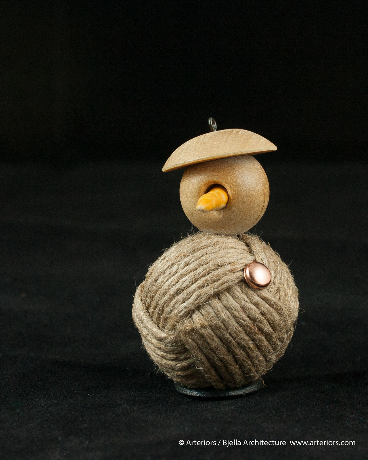 Bjella Snowman Ornament - Day 11 - Rope-13