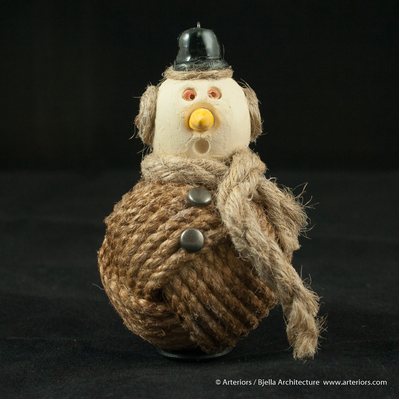 Bjella Snowman Ornament - Day 11 - Rope-6