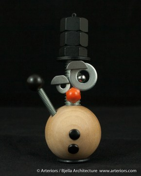 Bjella Snowman Ornament - Day 6 - Metal-12