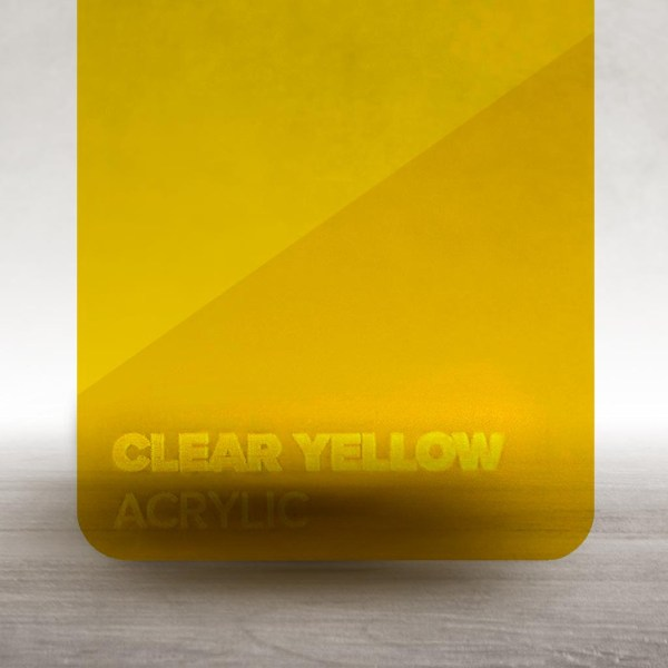 Acrílico Amarelo Transparente Flux Lasers