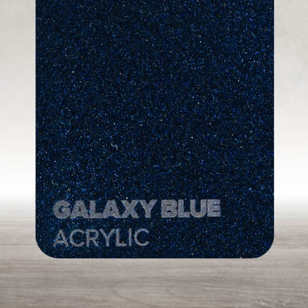 Acrílico Azul Galáxia Flux Lasers