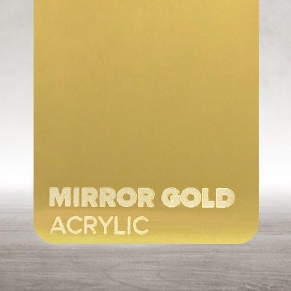 Acrílico Dourado Espelhado Flux Lasers