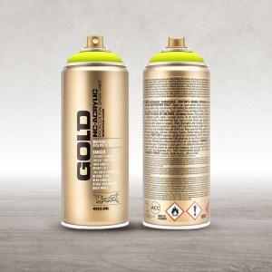 Montana Cans Gold Fluorescentes