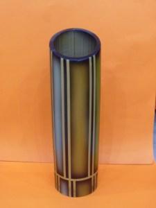 FLORERO AEROGRAFIADO LISO 34 x 10cm $33 (2)