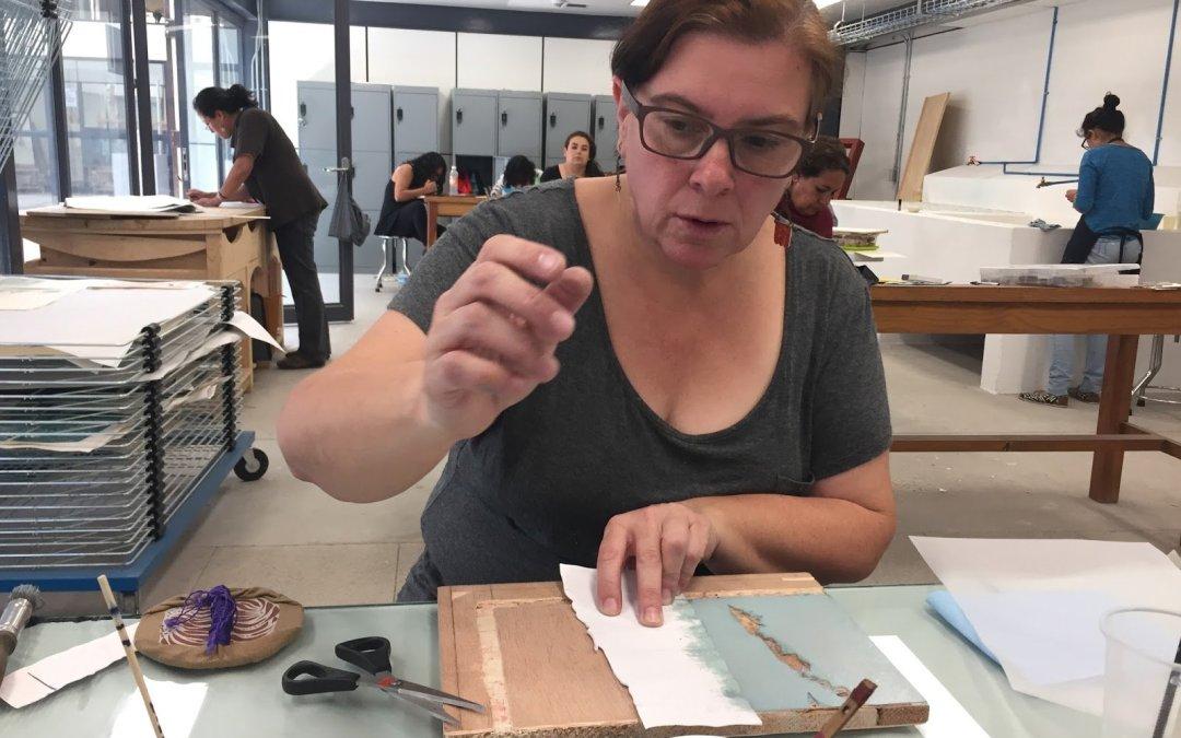 Silvia Borghi encuadernadora artesanal
