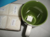 Sachê de Chá (em origami) na caneca