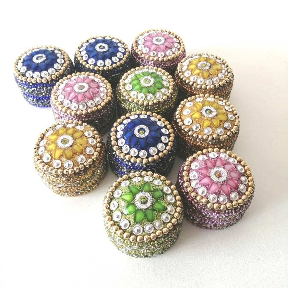 Cajitas decorativas redondas joyeros