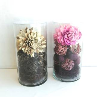 Flor Seca Perfumada tarro de cristal con Fragancia