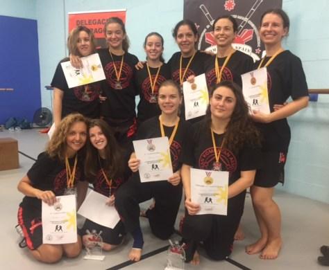 Equipo femenino Kombatan StickFighting 2017