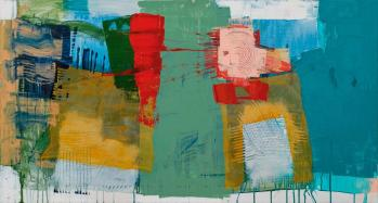 """Nikola Zigon artworks for """"The colours of spring"""" online auction by Artespace gallery."""