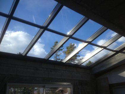 Photo verrière vitrerie vue de dessous