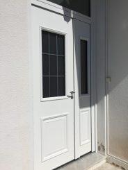 porte d'entrée aluminium blanc, 2 vantaux