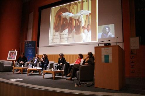 De gauche à droite : Caroline Quessandier, Hubert de Germay, Alexandra Martin, Lydia Lacour, Elisabeth de La Génardière, Delphine Hébrard © Estelle Lucas