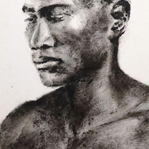 portrét v čiernom