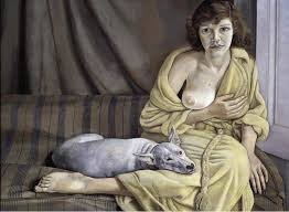 Ragazza con cane bianco