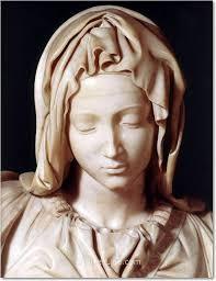 Dettaglio della Madonna de La pietà Michelangelo Buonarroti