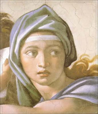 Particolare Sibilla delfica Cappella Sistina Michelangelo Buonarroti