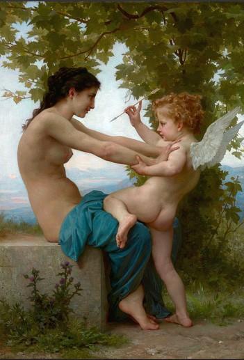 Giovane che si difende da Eros William A. Bouguereau 1880