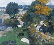 Le pastore bretoni Paul Gauguin 1886