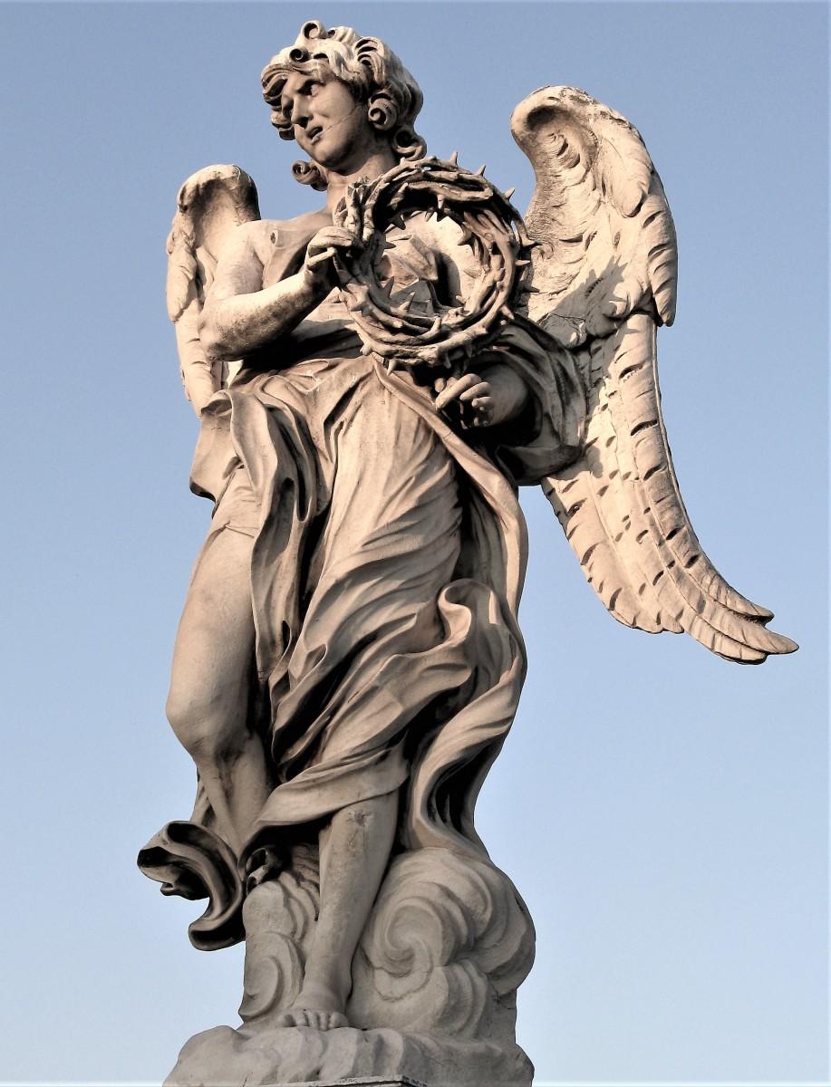 Angelo con la corona di spine Ponte Sant'Angelo copia di Paolo Naldini su disegno di Gian Lorenzo Bernini
