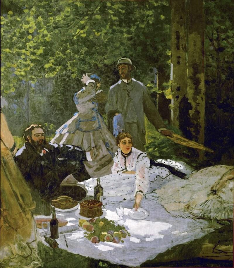 Colazione sull'erba Claude Monet 1865-1866