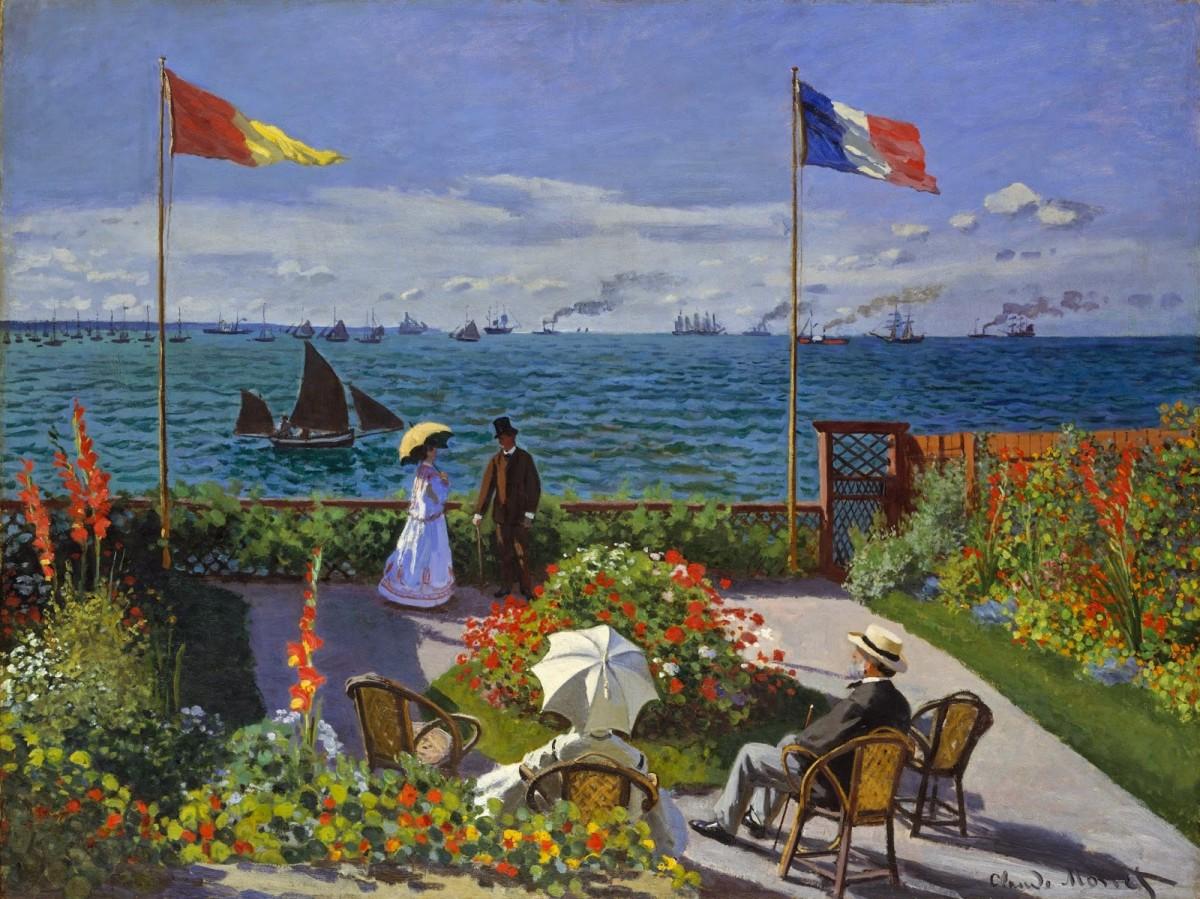 La terrazza a Sainte Adresse Claude Monet 1867