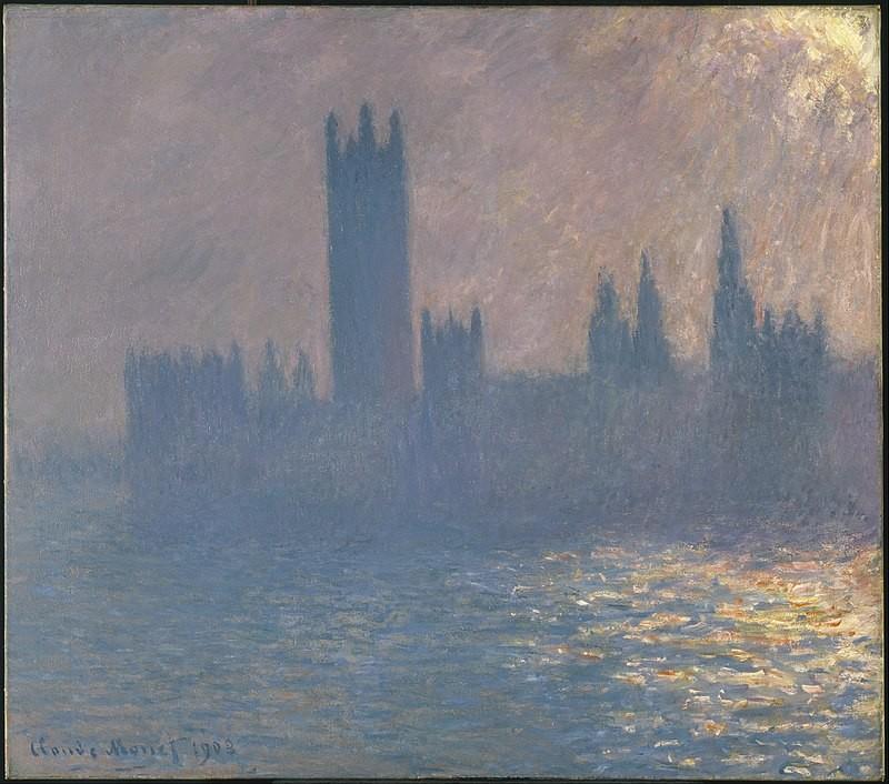 Palazzo del Parlamento, effetto sole Claude Monet 1903