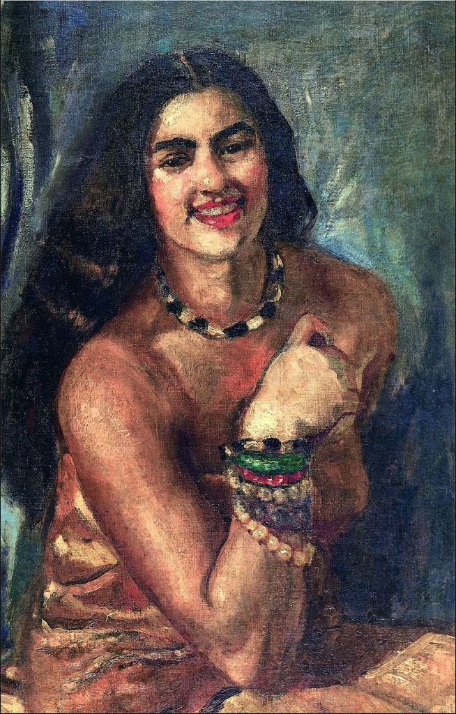 """Amrita Sher-Gil, la Frida Kahlo india. """"El cementerio alegre""""."""
