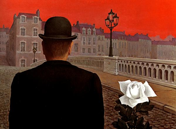 La Belle Société de René Magritte, dos ventanas al exterior.