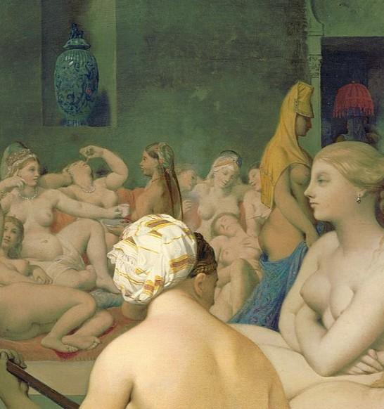 Baño turco, el sensual baño de las odaliscas de Ingres.