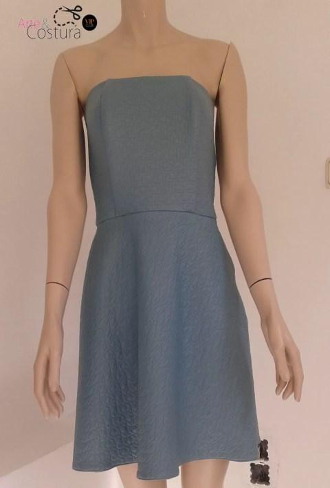Vestido-cuero-sintetico