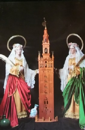 Miguel Farse: Giralda en la Iglesia de Santa Justa y Santa Rufina de Triana (SEVILLA)