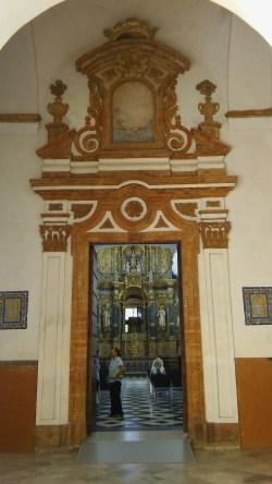 Portada de la Capilla de la Virgen de las Cuevas del Monasterio de la Cartuja