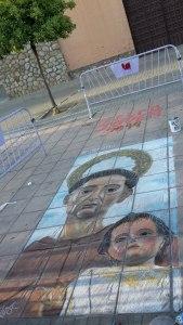 Imagen de Santo pintada sobre el piso - Reys Perú