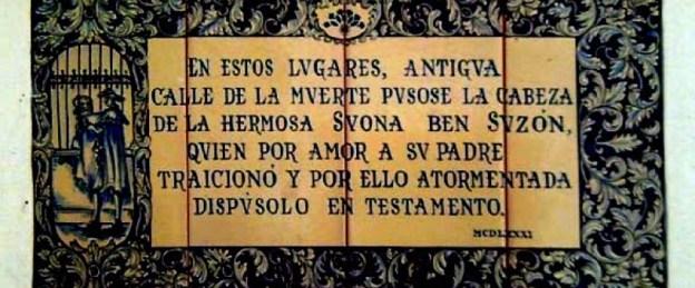 Azulejo en C/ Susona - Sevilla (Historia y Leyendas de Andalucía)