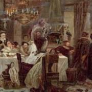 Ceremonia de Conversos. Pintura del artista ruso-judío Moshe Maimón-1893