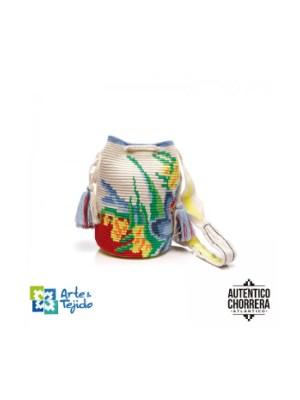 Arte y Tejido, Mochila Aster, Chorrera, Mochila, Tejida, Knitted, Crochet, Natural Fibers, Algodón, Cotton, Fibras Naturales, Bag, Aster