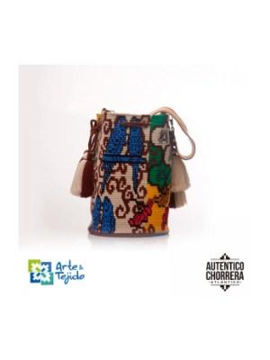 Arte y Tejido, Mochila Batiraazul, Chorrera, Mochila, Tejida, Knitted, Crochet, Natural Fibers, Algodón, Cotton, Fibras Naturales, Bag, Batiraazul