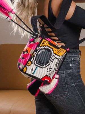 Arte y Tejido, Mochila Blam, Chorrera, Mochila, Tejida, Knitted, Crochet, Natural Fibers, Algodón, Cotton, Fibras Naturales, Bag, Blam