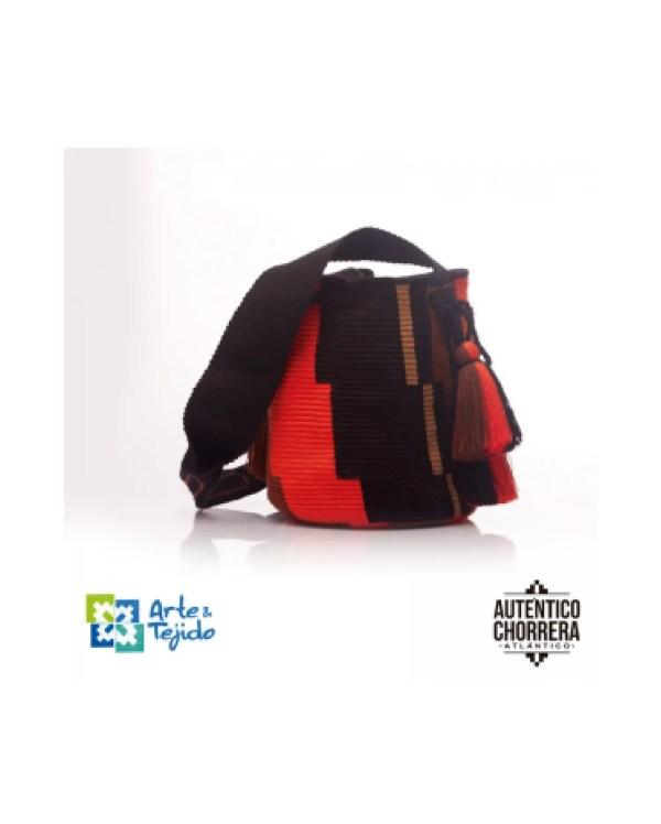 Arte y Tejido, Mochila Cafe, Chorrera, Mochila, Tejida, Knitted, Crochet, Natural Fibers, Algodón, Cotton, Fibras Naturales, Bag, Cafe