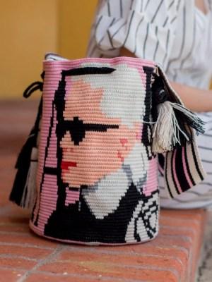Arte y Tejido, Chorrera, Mochila, Tejida, Knitted, Crochet, Natural Fibers, Algodón, Cotton, Fibras Naturales, Bag, Camelia, Mochila Camelia