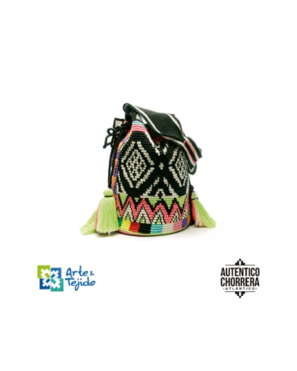 Arte y Tejido, Mochila Canneo, Chorrera, Mochila, Tejida, Knitted, Crochet, Natural Fibers, Algodón, Cotton, Fibras Naturales, Bag, Canneo