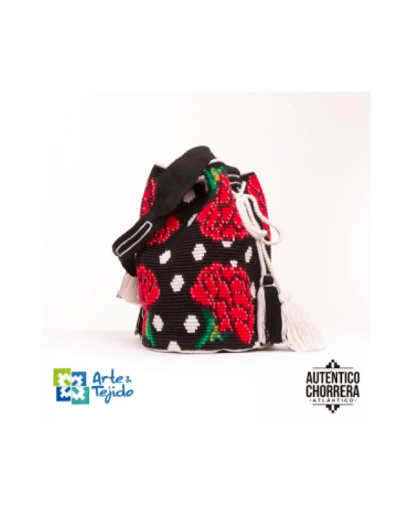 Arte y Tejido, Mochila Castilla, Chorrera, Mochila, Tejida, Knitted, Crochet, Natural Fibers, Algodón, Cotton, Fibras Naturales, Bag, Castilla