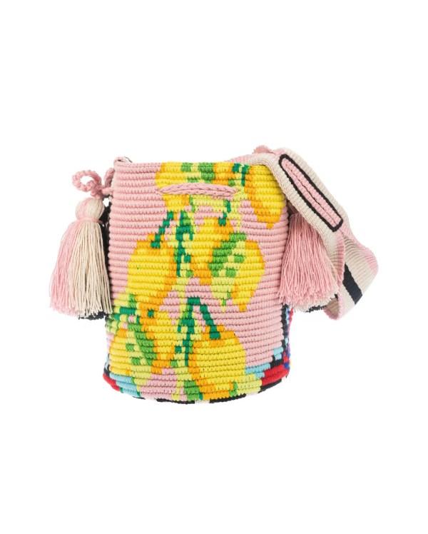 Arte y Tejido, Chorrera, Mochila, Tejida, Knitted, Crochet, Natural Fibers, Algodón, Cotton, Fibras Naturales, Bag, Catania, Mochila Catania