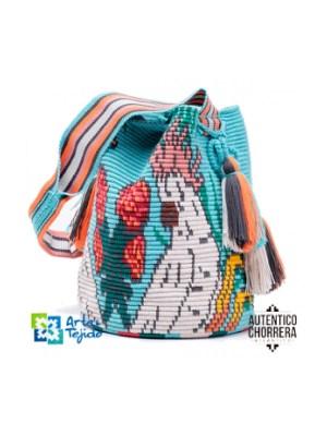 Arte y Tejido, Mochila Cokatoo, Chorrera, Mochila, Tejida, Knitted, Crochet, Natural Fibers, Algodón, Cotton, Fibras Naturales, Bag, Cokatoo