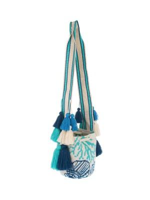 Arte y Tejido, Chorrera, Mochila, Tejida, Knitted, Crochet, Natural Fibers, Algodón, Cotton, Fibras Naturales, Bag, Coralito, Frenesí, Mochila Coralito