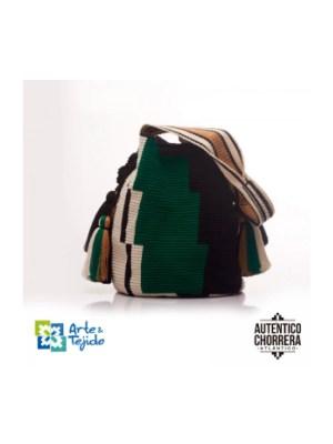 Arte y Tejido, Mochila Green, Chorrera, Mochila, Tejida, Knitted, Crochet, Natural Fibers, Algodón, Cotton, Fibras Naturales, Bag, Green